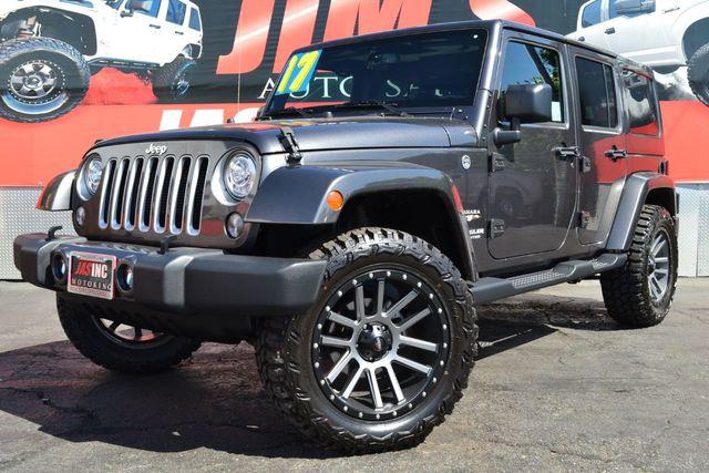 2017 used jeep wrangler unlimited sahara 4x4 20 ultra wheels 33 tires at jim s auto sales serving harbor city ca iid 20327909 jim s auto sales