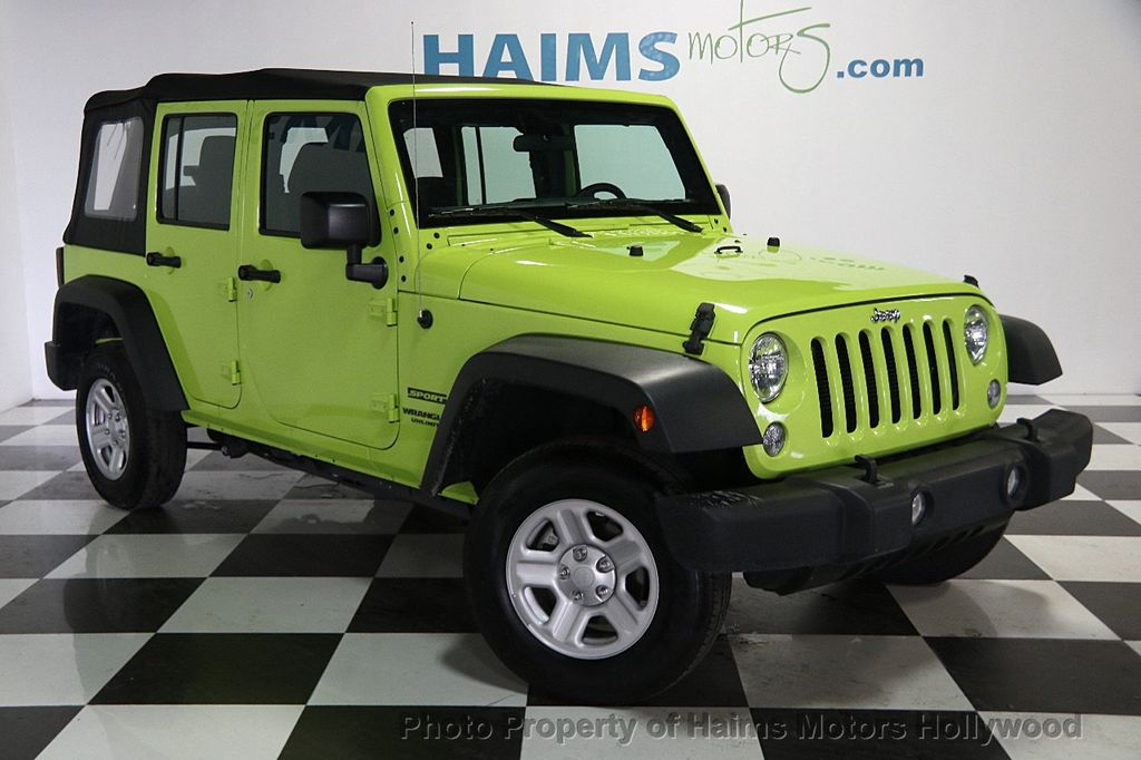 2017 used jeep wrangler unlimited sport 4x4 at haims motors serving fort lauderdale hollywood. Black Bedroom Furniture Sets. Home Design Ideas