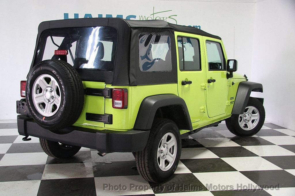 2017 used jeep wrangler unlimited sport 4x4 at haims motors ft lauderdale serving lauderdale. Black Bedroom Furniture Sets. Home Design Ideas
