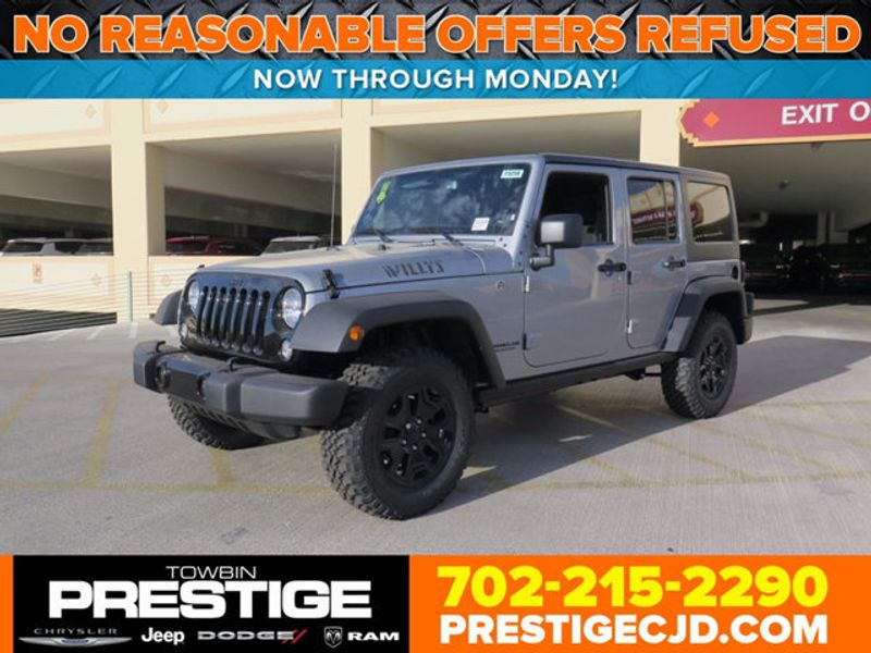 2017 Jeep Wrangler Unlimited Willys Wheeler 4x4 - 16838738 - 0