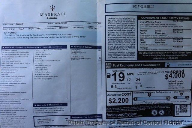 2017 Used Maserati Ghibli 3 0L at Ferrari of Central Florida Serving  Orlando, FL, IID 15963099