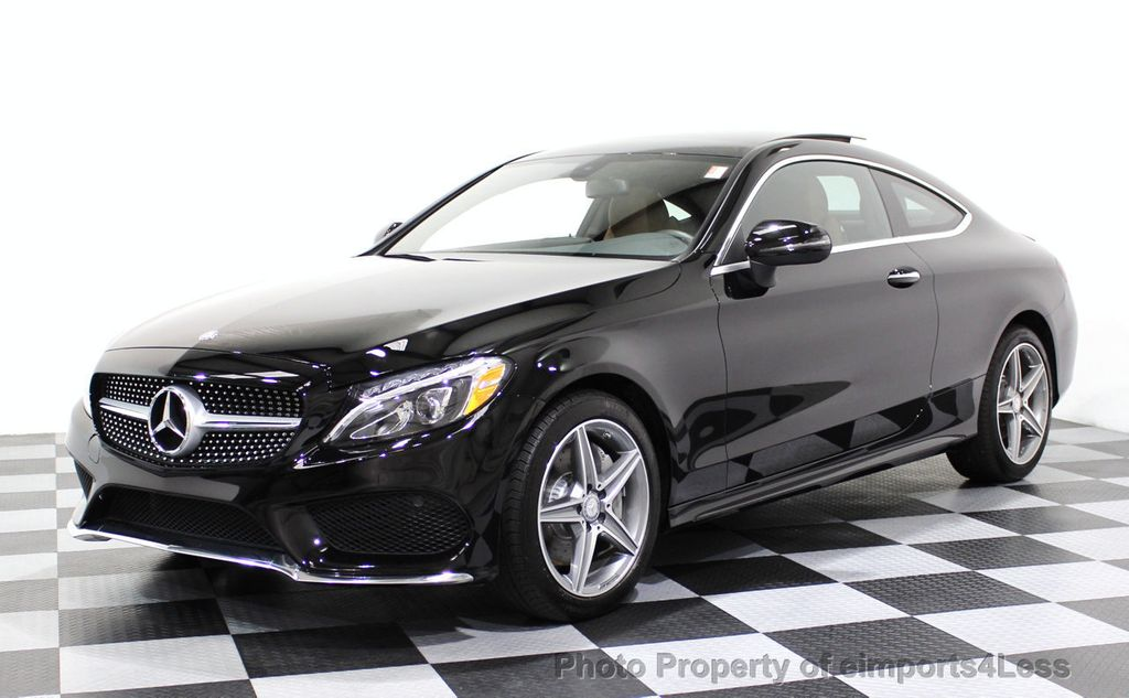 2017 used mercedes benz certified c300 4matic amg sport for Mercedes benz e class 2017 black