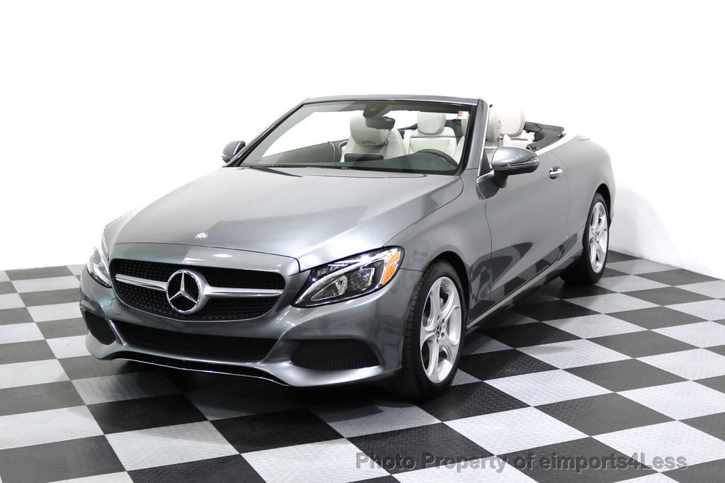 2017 Mercedes-Benz C-Class CERTIFIED C300 4Matic AWD CABRIOLET LED Blind Spot NAVI - 17234534 - 0