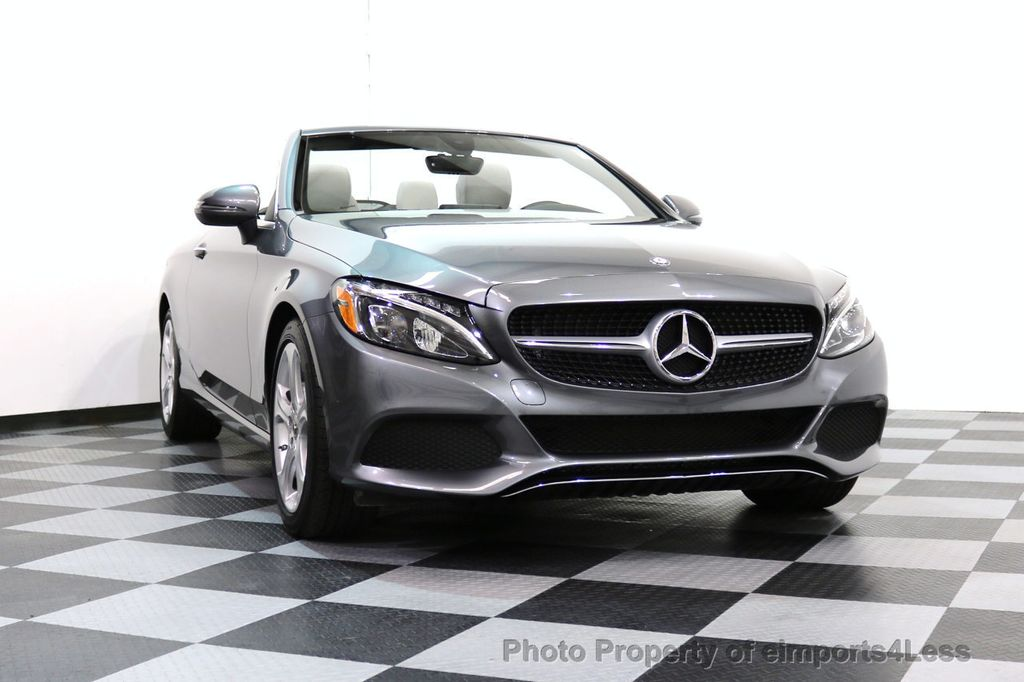 2017 Mercedes-Benz C-Class CERTIFIED C300 4Matic AWD CABRIOLET LED Blind Spot NAVI - 17234534 - 14