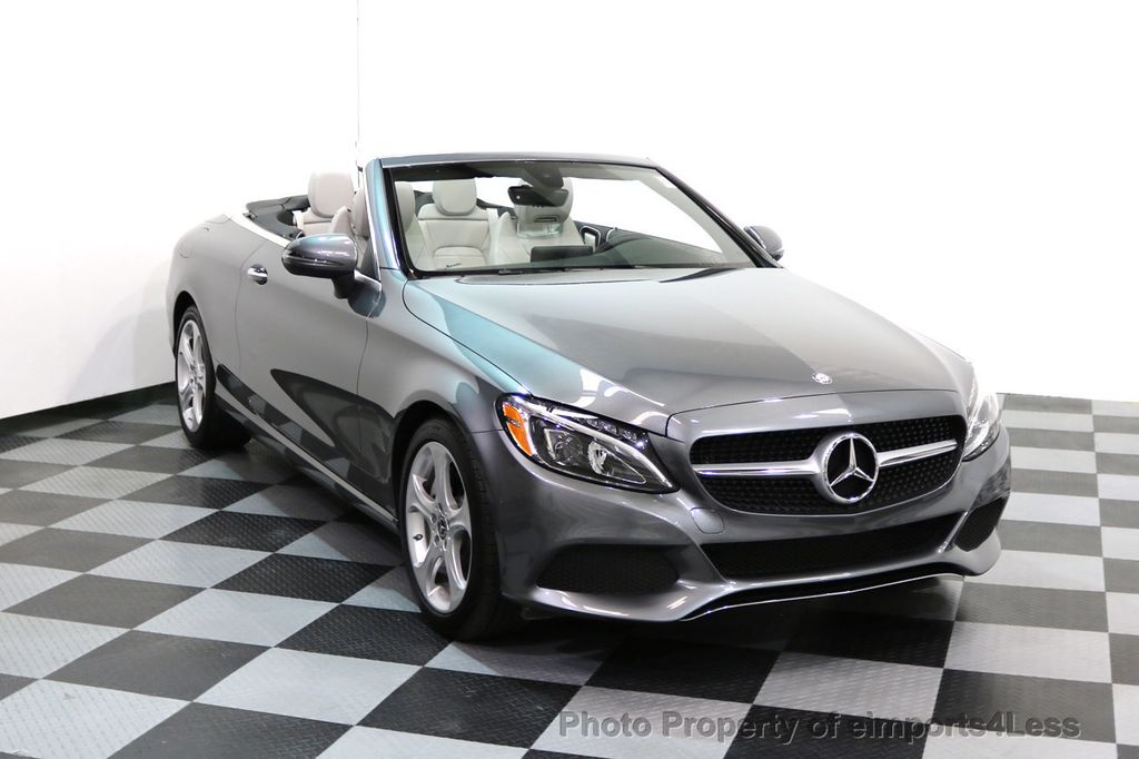 2017 Mercedes-Benz C-Class CERTIFIED C300 4Matic AWD CABRIOLET LED Blind Spot NAVI - 17234534 - 1
