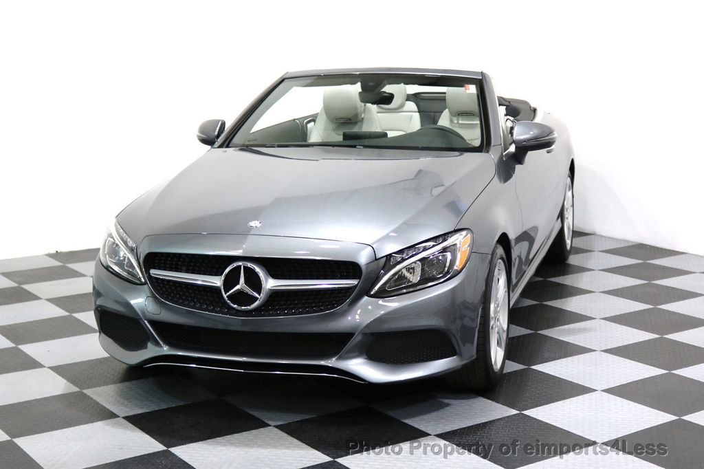 2017 Mercedes-Benz C-Class CERTIFIED C300 4Matic AWD CABRIOLET LED Blind Spot NAVI - 17234534 - 26