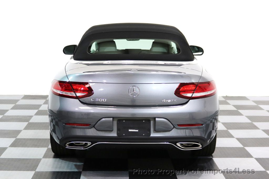 2017 Mercedes-Benz C-Class CERTIFIED C300 4Matic AWD CABRIOLET LED Blind Spot NAVI - 17234534 - 29