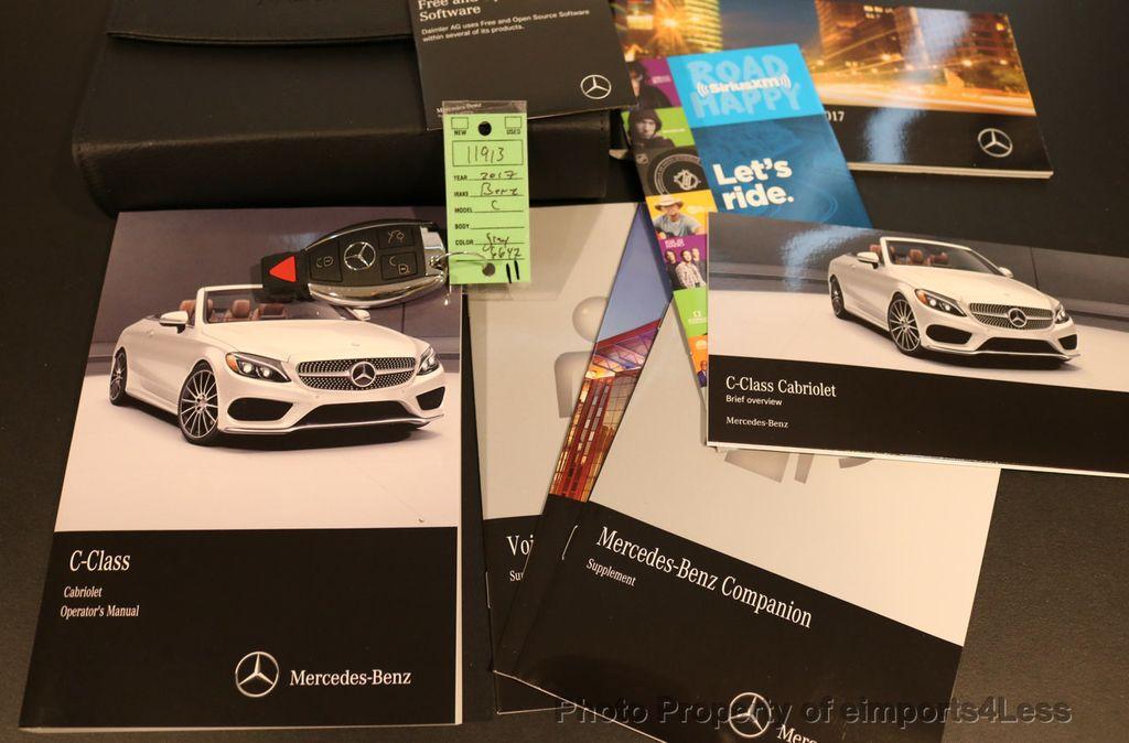 2017 Mercedes-Benz C-Class CERTIFIED C300 4Matic AWD CABRIOLET LED Blind Spot NAVI - 17234534 - 35