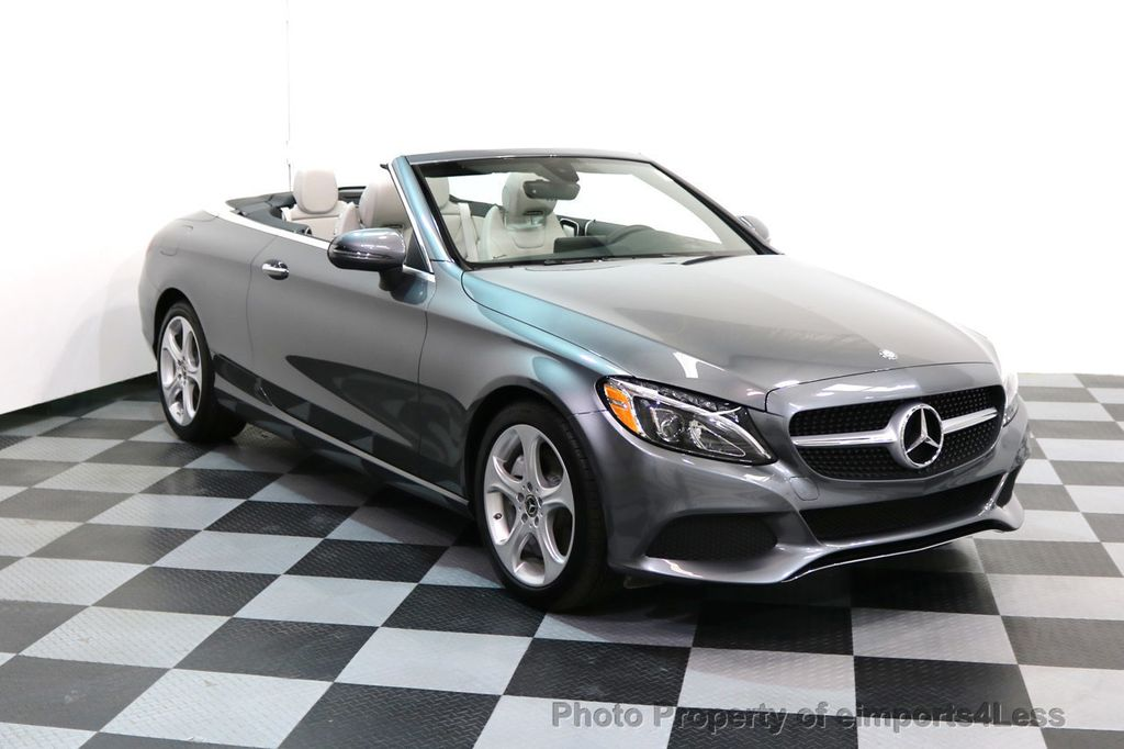 2017 Mercedes-Benz C-Class CERTIFIED C300 4Matic AWD CABRIOLET LED Blind Spot NAVI - 17234534 - 39
