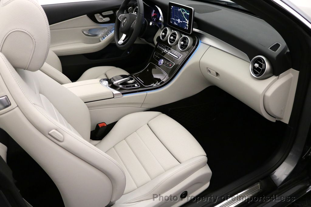 2017 Mercedes-Benz C-Class CERTIFIED C300 4Matic AWD CABRIOLET LED Blind Spot NAVI - 17234534 - 47
