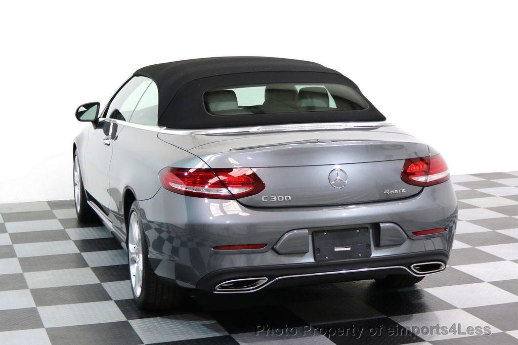 2017 Mercedes-Benz C-Class CERTIFIED C300 4Matic AWD CABRIOLET LED Blind Spot NAVI - 17234534 - 49