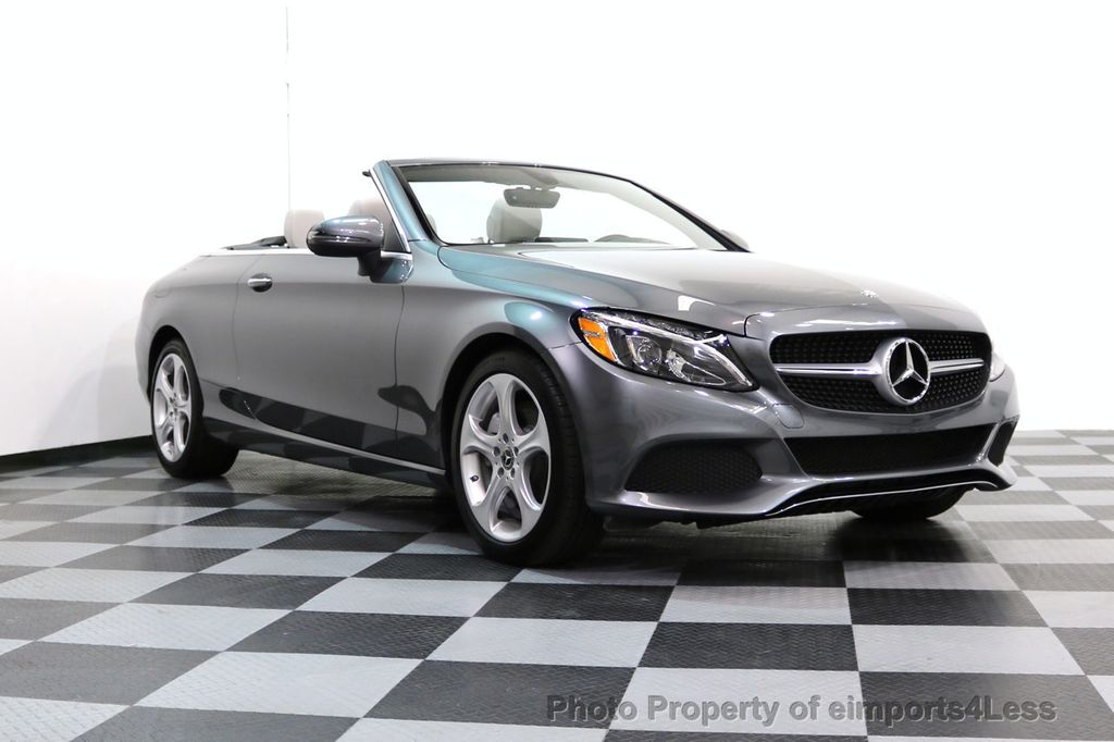 2017 Mercedes-Benz C-Class CERTIFIED C300 4Matic AWD CABRIOLET LED Blind Spot NAVI - 17234534 - 51