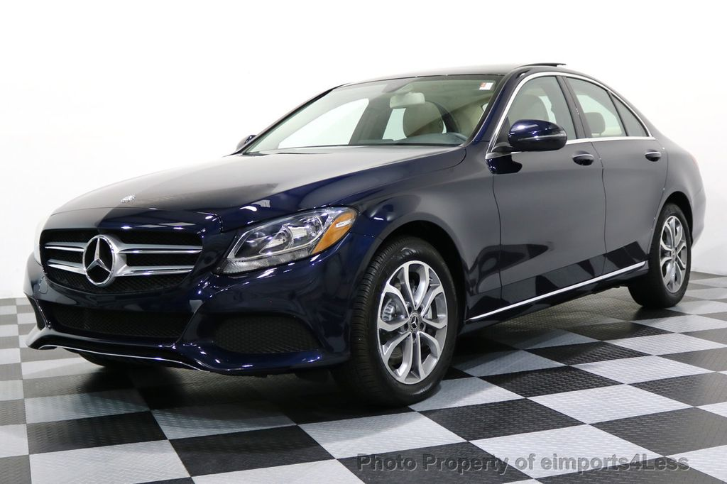 2017 Mercedes-Benz C-Class CERTIFIED C300 4Matic AWD Pano Camera NAVI - 16934087 - 0
