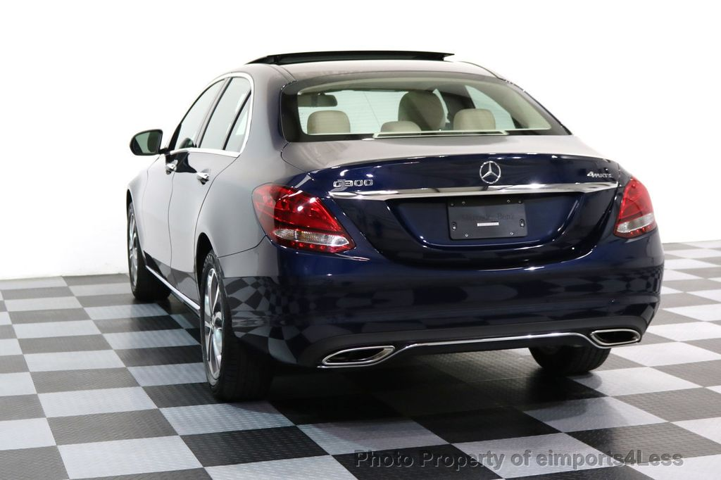 2017 Mercedes-Benz C-Class CERTIFIED C300 4Matic AWD Pano Camera NAVI - 16934087 - 28
