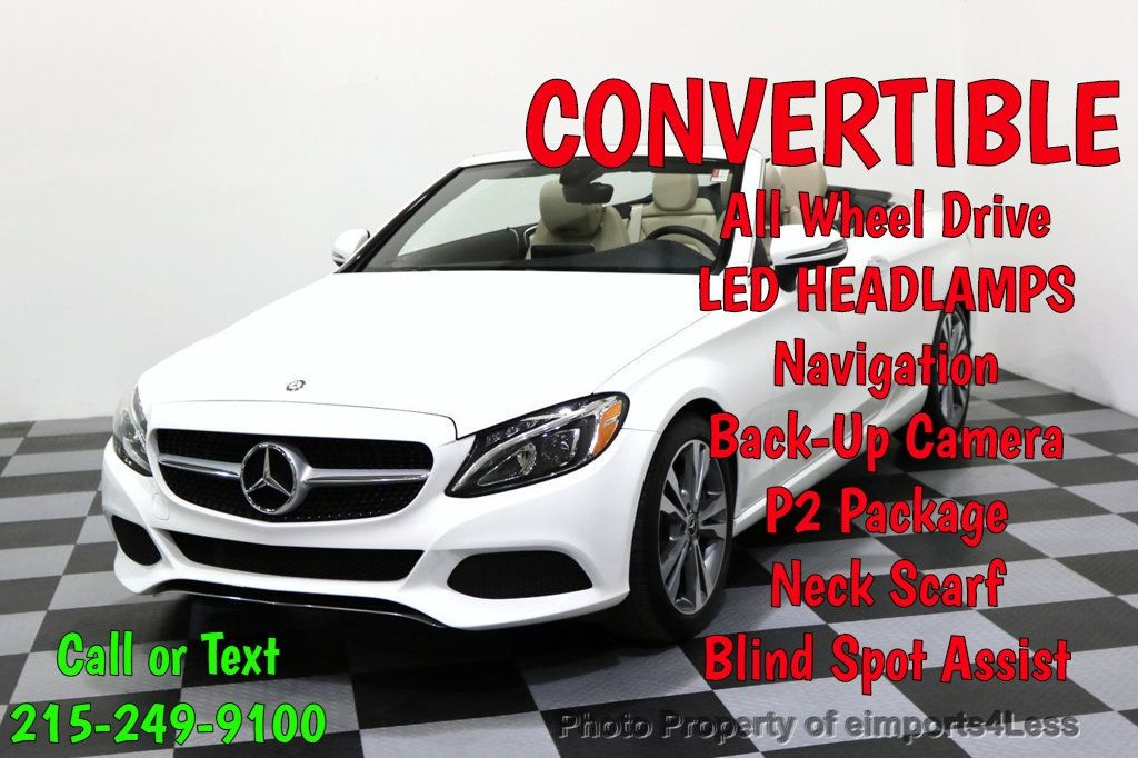 2017 Mercedes-Benz C-Class CERTIFIED C300 4Matic P2 AWD CABRIOLET - 17307934 - 0