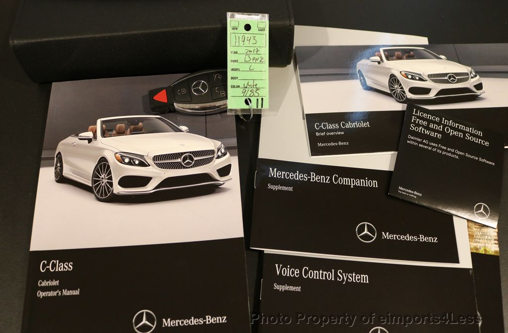 2017 Mercedes-Benz C-Class CERTIFIED C300 4Matic P2 AWD CABRIOLET - 17307934 - 37