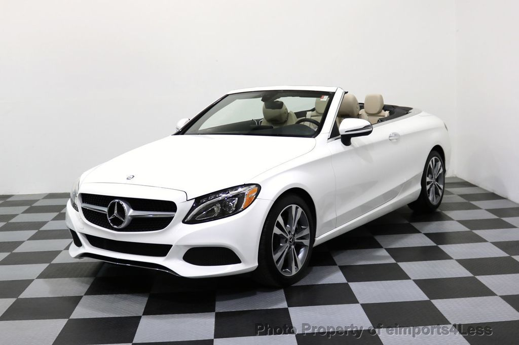 2017 Mercedes Benz C Cl Certified C300 4matic P2 Awd Cabriolet 17307934