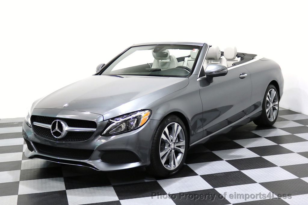 2017 Mercedes-Benz C-Class CERTIFIED C300 4Matic P2 AWD CABRIOLET CAMERA NAVI - 17270745 - 0