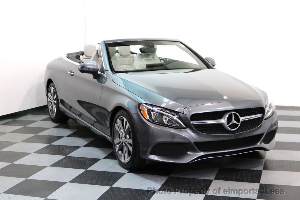 2017 Mercedes-Benz C-Class CERTIFIED C300 4Matic P2 AWD CABRIOLET CAMERA NAVI - 17270745 - 1