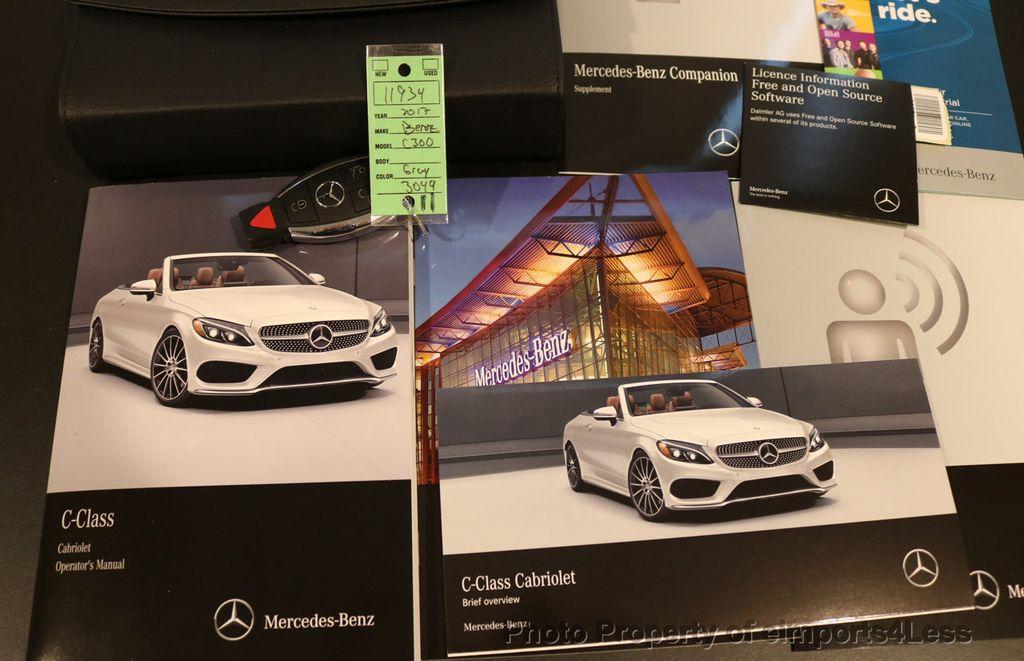 2017 Mercedes-Benz C-Class CERTIFIED C300 4Matic P2 AWD CABRIOLET CAMERA NAVI - 17270745 - 37