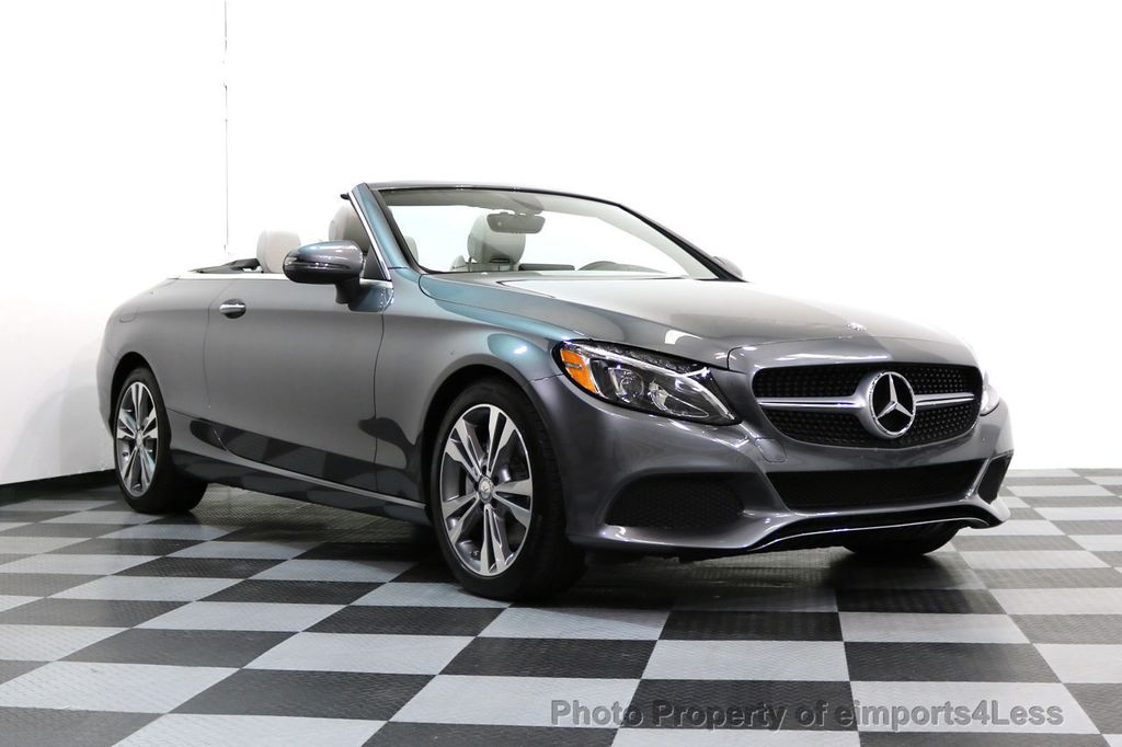 Superior 2017 Mercedes Benz C Class CERTIFIED C300 4Matic P2 AWD CABRIOLET CAMERA  NAVI