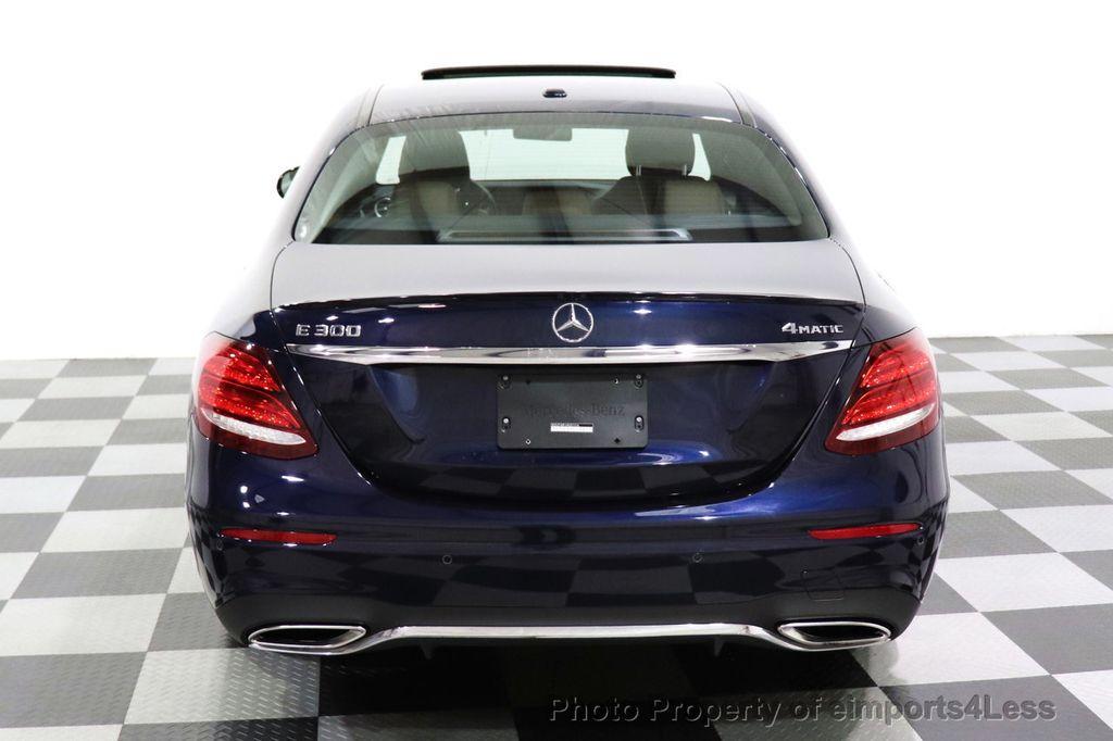 2017 Mercedes-Benz E-Class CERTIFIED E300 4MATIC AMG Sport Package AWD LED NAV CAM BLIS - 18373066 - 17