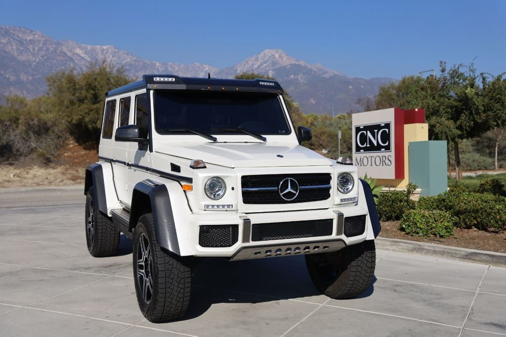 2017 Used Mercedes Benz G Class G 550 4x4 Squared Suv Pearl White Matte Wrap At Cnc Motors Inc Serving Upland Ca Iid 20417359