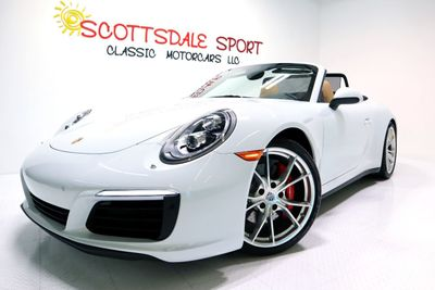 2017 Porsche 911 CARRERA 4S CAB. * ONLY 15K Miles...Carrera White/Beige  - Click to see full-size photo viewer