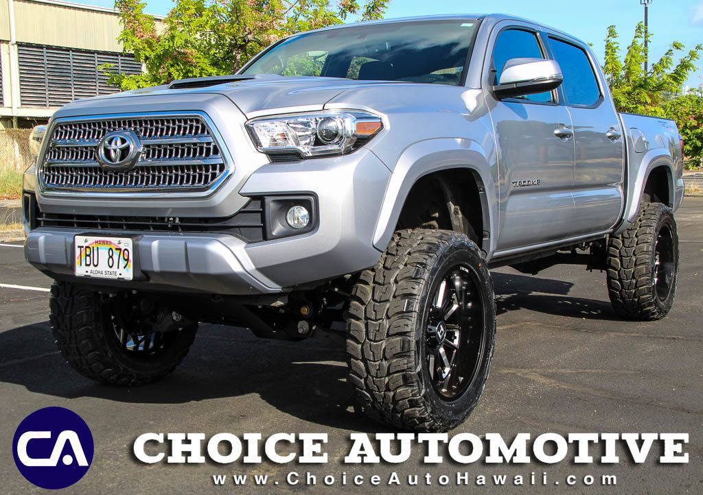 Toyota Tacoma Lifted >> 2017 Toyota Tacoma Lifted Trd Sport Double Cab 5 Bed V6 4x2 Automatic Truck Double Cab Short Bed For Sale Honolulu Hi 32 999 Motorcar Com