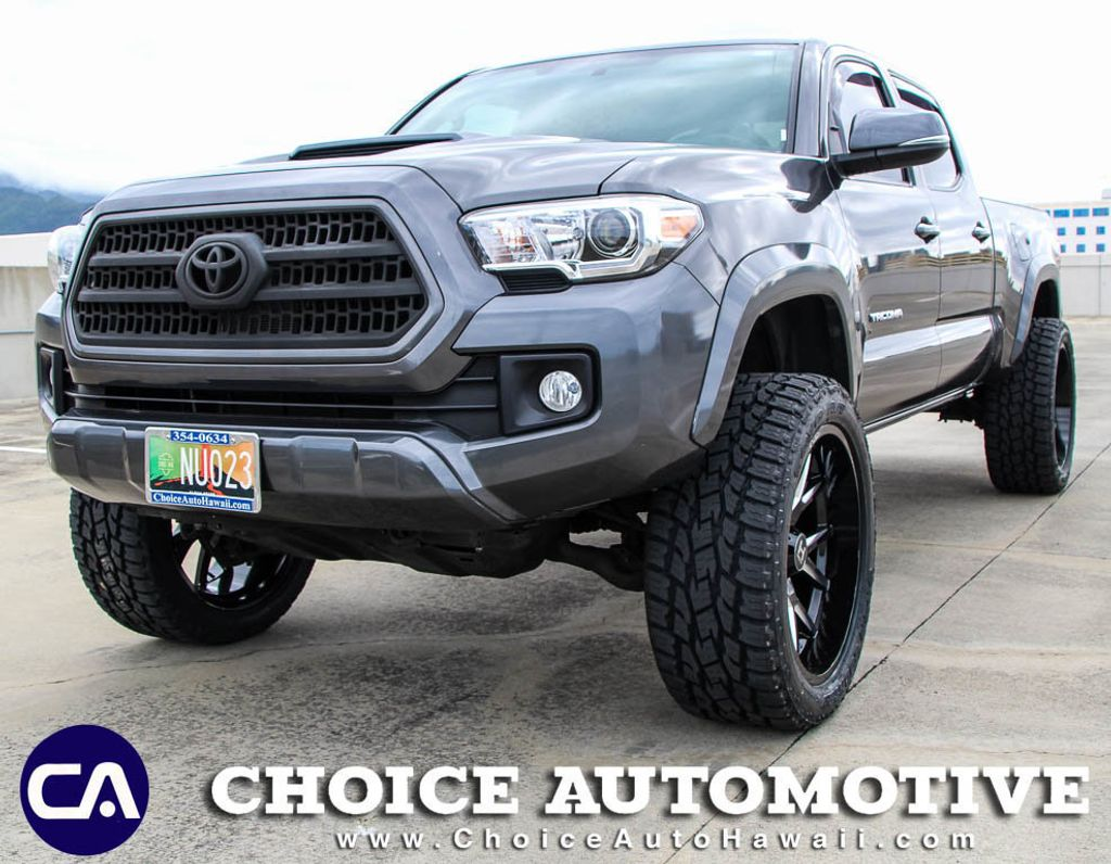 Toyota Tacoma Lifted >> 2017 Used Toyota Tacoma Lifted Trd Sport Double Cab 6 Bed V6 4x4 Automatic At Choice Automotive Serving Honolulu Hi Iid 19124865