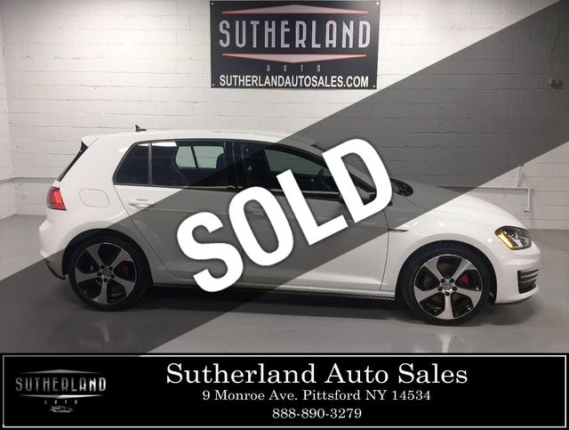 Used Volkswagen Golf >> 2017 Used Volkswagen Golf Gti 2 0t 4 Door S Manual At Sutherland Service Center Serving Pittsford Ny Iid 19378936