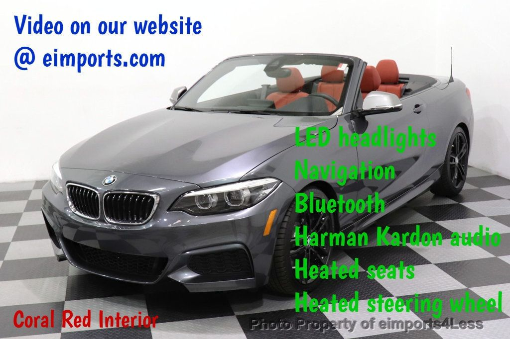2018 BMW 2 Series CERTIFIED M240i xDrive AWD PREMIUM HK NAV CORAL RED - 18448593 - 0