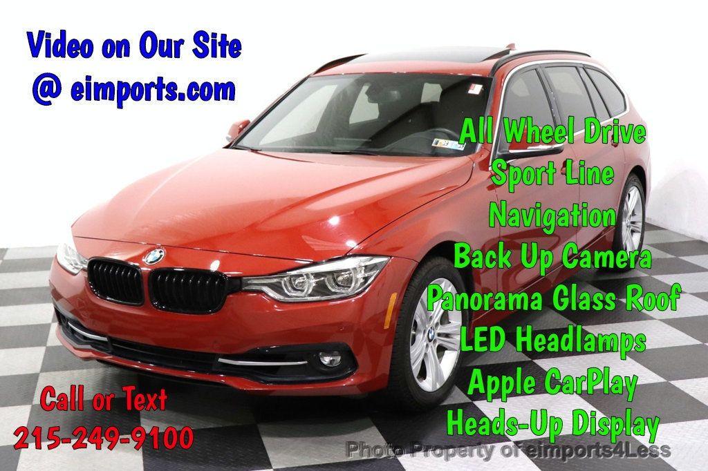 2018 BMW 3 Series CERTIFIED 330i xDRIVE SPORT LINE AWD NAV CAM PANO HUD - 18587083 - 0