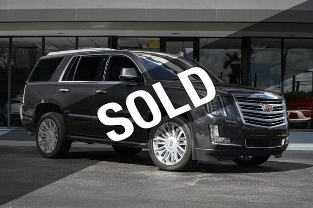 2018 Cadillac Escalade 4WD 4dr Platinum