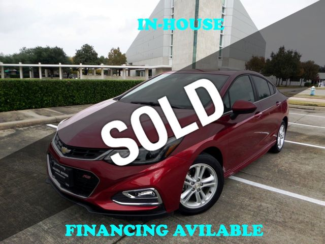 2018 Chevrolet CRUZE 2018 Chevy Cruze LT, RS package, 1-Owner, 27k, Reverse Camera