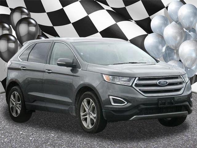 Ford Edge Used >> 2018 Used Ford Edge Titanium Awd At F X Caprara Honda Of
