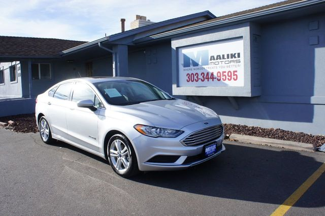 Used Ford Fusion Hybrid >> 2018 Used Ford Fusion Hybrid Se Fwd At Maaliki Motors Serving Aurora Denver Co Iid 18316024