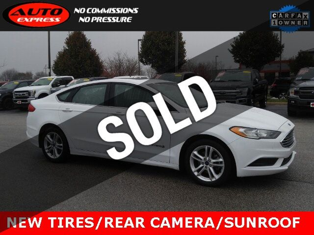 Used Ford Fusion Hybrid >> 2018 Used Ford Fusion Hybrid Se Fwd 17 Alloys Sunroof Rear Camera Bluetooth New Tires At Auto Express Lafayette In Iid 19546202