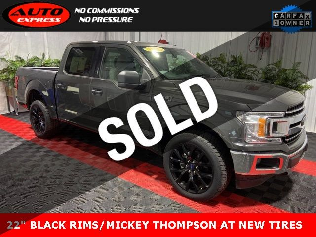 2018 Used Ford F 150 Xlt Crew Cab 4x4 22 Black Rims Mickey Thompson At New Tires At Auto Express Lafayette In Iid 18990152
