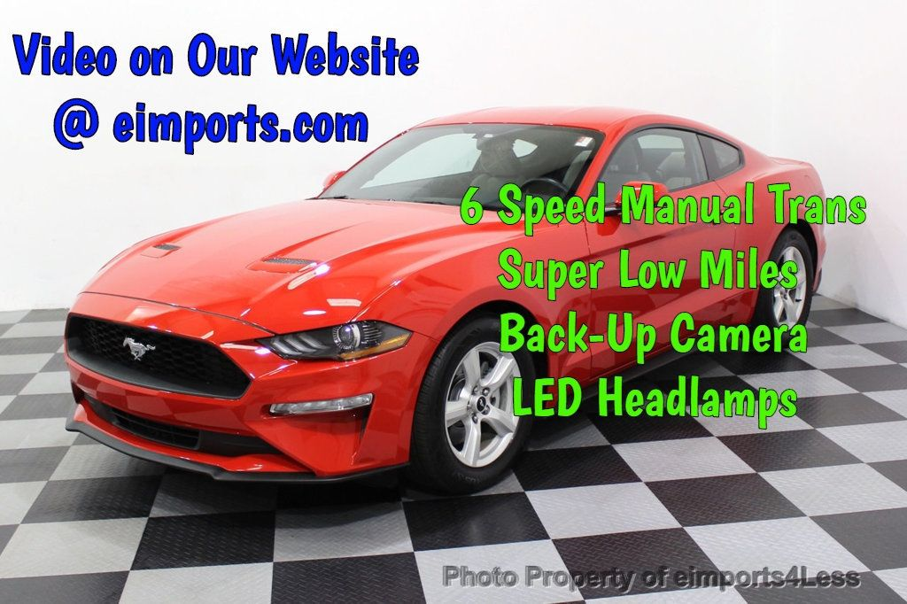 2018 Ford Mustang CERTIFIED MUSTANG 6 SPEED LED Lights CAMERA - 18319514 - 0
