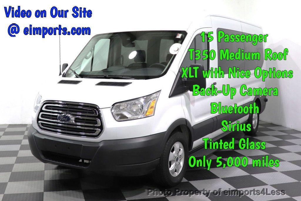 2018 Ford Transit Passenger Wagon CERTIFIED TRANSIT T350 MEDIUM ROOF 15 PASSENGER - 18398371 - 0