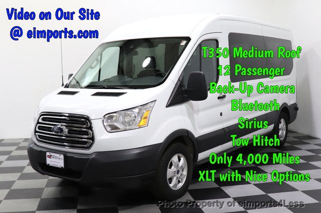 2018 Used Ford Transit Passenger Wagon CERTIFIED TRANSIT T350 Medium Roof  XLT 12 PASSENGER at eimports4Less Serving Doylestown, Bucks County, PA, IID