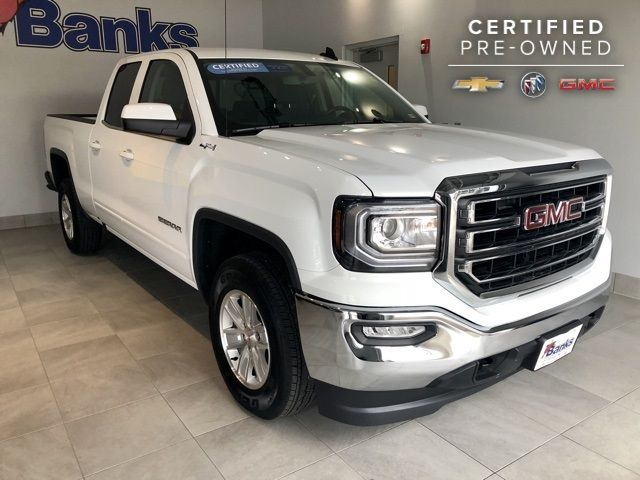 Used Gmc Sierra >> 2018 Used Gmc Sierra 1500 4wd Double Cab 143 5 Sle At Banks Gmc Serving Manchester Nh Iid 18117143