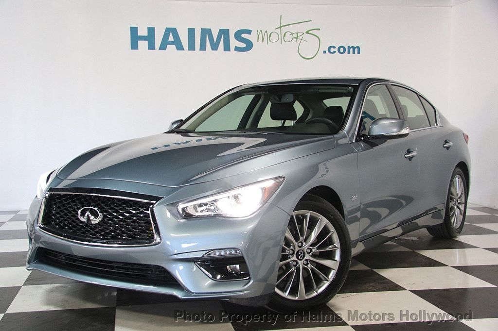2018 used infiniti q50 luxe rwd at haims motors. Black Bedroom Furniture Sets. Home Design Ideas