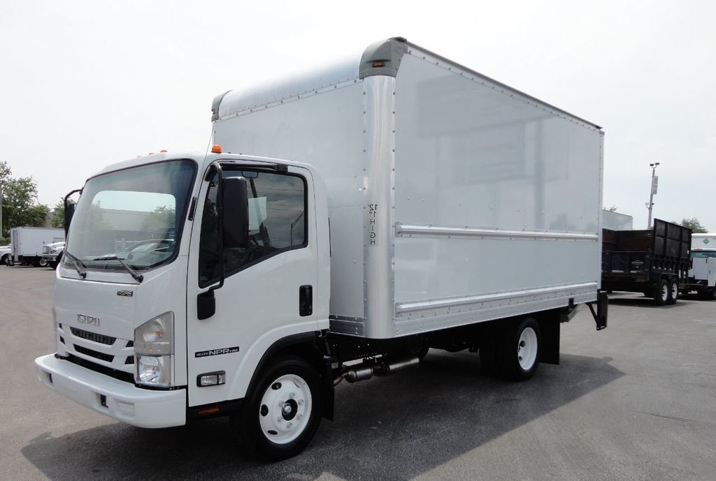2018 Isuzu NPR HD 16FT DRY BOX..TUCK UNDER LIFTGATE BOX TRUCK CARGO TRUCK - 17609040
