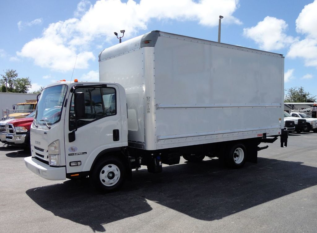 2018 Isuzu NPR HD 16FT DRY BOX..TUCK UNDER LIFTGATE BOX TRUCK CARGO TRUCK - 17637486 - 0