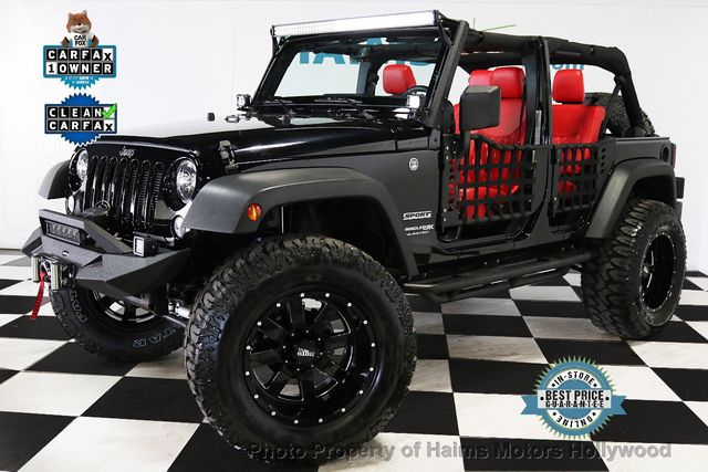 Jeep Wrangler Jk >> 2018 Jeep Wrangler Jk Unlimited Suv For Sale Hollywood Fl 38 977 Motorcar Com