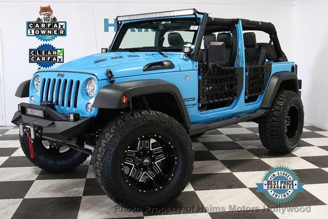 Custom Jeep Wrangler >> 2018 Used Jeep Wrangler Jk Unlimited Custom Jeeps At Haims Motors Serving Fort Lauderdale Hollywood Miami Fl Iid 18976844
