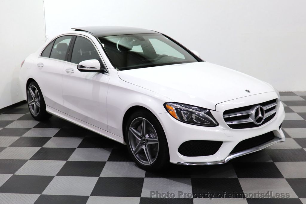 2018 Mercedes-Benz C-Class CERTIFIED C300 4MATIC AMG Sport Package LED BURMESTER PANO - 18346387 - 1