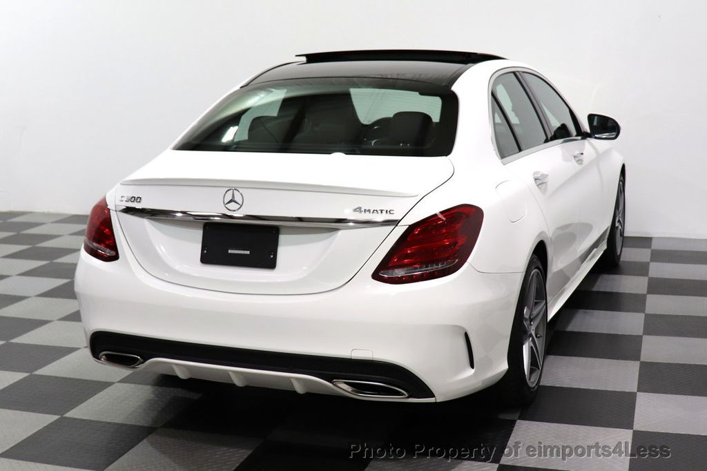 2018 Mercedes-Benz C-Class CERTIFIED C300 4MATIC AMG Sport Package LED BURMESTER PANO - 18346387 - 47